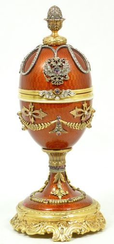 Russian Enameled Silver Egg Box with Frog.