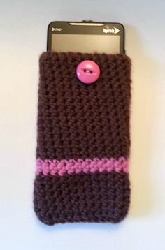 #Crochet Cell Phone cover by CuppaStitches on #Etsy