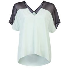MICHELLE MASON Short sleeve blouse ($330) ❤ liked on Polyvore