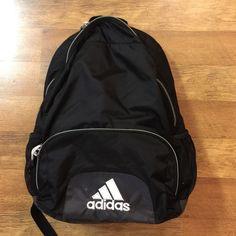 Adidas Backpack Adidas Backpack school type backpack black great shape no rips or tears Adidas Bags Backpacks