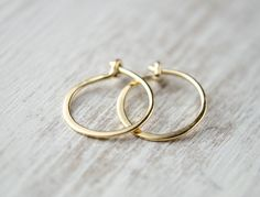 Tiny Hoop Earrings Sterling Silver Gold Plated Gold Filled