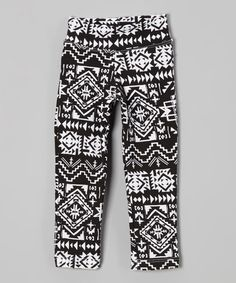 Another great find on #zulily! Black & White Tribal Leggings - Infant, Toddler & Girls #zulilyfinds