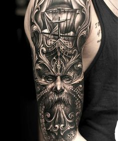 Cool Manly Arm Tattoo Ideas - Best Arm Tattoos For Men: Cool Upper, Lower, Inner, Front, Back and Side Arm Tattoo Designs and Ideas For Guys Outer Bicep Tattoos, Side Arm Tattoos, Tattoos Arm Mann, Cool Arm Tattoos, Upper Arm Tattoos, Badass Tattoos, Lower Back Tattoos, Tribal Tattoos, Hand Tattoos