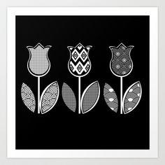 Tulips / 03 Art Print by MariskaART - $24.96
