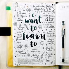 """I want to learn to"" bullet journal"