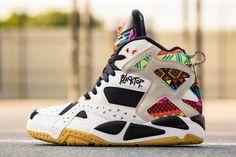 "Reebok Pump Blacktop Battleground ""Tribal"" DROPPING 08/08/2014 High Top Sneakers, Sneakers Nike, Sneaker Release, Reebok, Air Jordans, Pumps, Dates, Drop, Fashion"