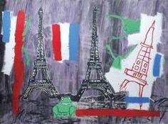 Jean-michel basquiat 1960-1988 et andy warhol 1928-1987 eiffel tower, 1985 acrylique et sérigraphie  / Jean-michel basquiat