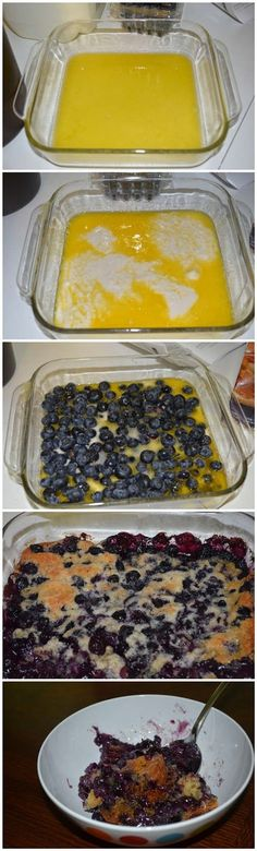 Bisquick Blueberry Cobbler I have made this many times with various fresh berries, super yummy!!