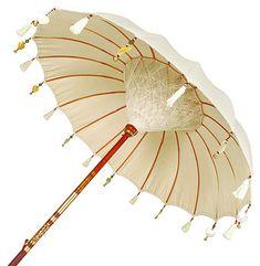 Cream Pearl Garden Umbrella #handpickedoutdoorliving