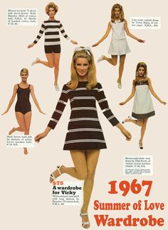1967 Summer of Love Wardrobe Inspiration. late mod short miniskirt dress stripes sportswear shorts pants white black brown mcm mod The post 1967 Summer of Love Wardrobe Inspiration. appeared first on Summer Diy. 60s Fashion Trends, 60s And 70s Fashion, Vintage Fashion, 1960s Fashion Women, 1967 Fashion, Sporty Fashion, Ski Fashion, Style Fashion, Winter Fashion