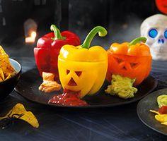 Jack-o'-lantern peppers | ASDA Recipes