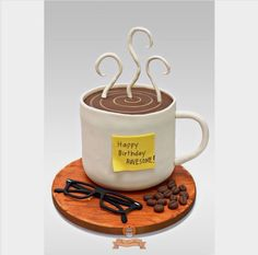 """The Sweetery on Instagram: """"Coffee cup birthday cake. #thesweeteryph #fondant…"""