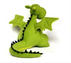 Yoki the Dragon Soft Toy Pattern   YouCanMakeThis.com