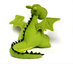 Yoki the Dragon Soft Toy Pattern | YouCanMakeThis.com