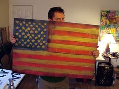 American Flag Painting - Graffiti Style with spray paints - $250 24x36 check my web site for availability! http://www.etsy.com/shop/garrettweider
