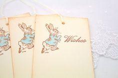 Peter Rabbit Wish Tree Tags Baby Shower by SeasonalDelightsBaby, $13.00