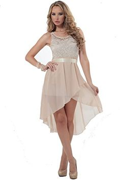 Womens Chiffon Lace Scoop Neck Sleeveless High Low Formal Dress with Sash Ribbon Hot from Hollywood http://www.amazon.com/dp/B00O84XCQ8/ref=cm_sw_r_pi_dp_bLJsvb1RR3D5H