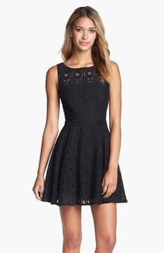 $88, BB Dakota Renley Lace Fit Flare Dress. Sold by Nordstrom. Click for more info: https://lookastic.com/women/shop_items/275285/redirect