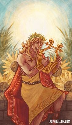 Apollo, the SunOne of the rebooted tarot illustrations. (Not final artwork! Apollo Mythology, Greek And Roman Mythology, Apollo Aesthetic, Apollo Greek, Achilles And Patroclus, Greek Gods And Goddesses, Ancient Greece, Deities, Illustration