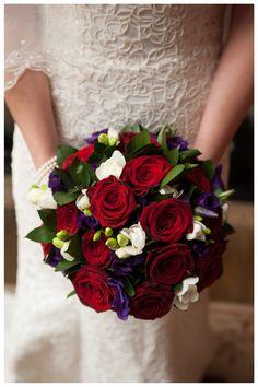 8-Dec-12 #LeezPriory #Red #Bouquet #Roses #WinterWedding