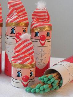 vintage santa match holders