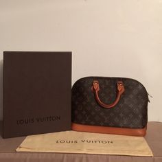 Louis Vuitton Monogram Alma Authentic Louis Vuitton Monogram Alma MM  Beautiful lady like shape Spacious interior with 1 pocket  2 handles,Vahetta patina evenly  exterior has no tears or stains  Piping in great condition, no rips Interior is spotless Brass in great condition Bottom shows wear (photo #3) Mark on one of handles (photo #4) Date code # VI 0943 Exterior 8/10 Interior 10/10  refer to Louis Vuitton website for more info Bag Retails for $1500 + tax  Comes w/Box & dust bag Will take…
