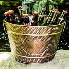 BREKX Hillcrest Bronze Pebbled Galvanized Beverage Tub Wine Bucket for sale Wine Drinks, Beverages, Cheap Wine Glasses, Drink Bucket, Wine Chillers, Beverage Tub, Galvanized Tub, Wine Stains, Wine Refrigerator