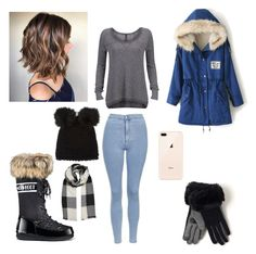 """Winter Time"" by tiannameeks on Polyvore featuring Moon Boot, Topshop, GUESS, Barneys New York and Echo"