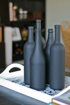 Chalk Wine Bottles! To write memories on, and to have chalk nearby for guest to write a message