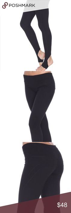 High Rise Black Stirrup Yoga Pants High quality yoga pants. Stirrups help keep pants in place while performing medium- impact exercises. High rise sits naturally at waist line. Cotton/Rayon/Spandex blend. Price is firm (please no offers). Elite Pants Leggings