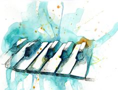Watercolor Piano by MyStorySoFar on Etsy, $20.00