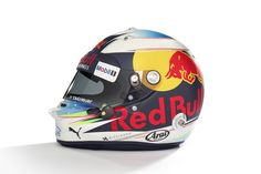 The helmet of Daniel Ricciardo, Red Bull Racing Photo by XPB Images on March 2017 at Australian GP. Browse through our high-res professional motorsports photography F1 2017, Racing Helmets, Daniel Ricciardo, Red Bull Racing, Helmet Design, F1 Drivers, Super Bikes, Motogp, Photography