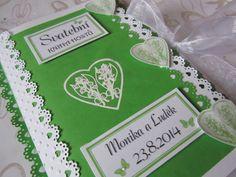 Svatební+kniha+hostů+zeleno-bílá-+konvalinka+Svatební+kniha+hostů+A5.+Počet+listů+60+Nechejte+kolovat+svým+svatebním+hostům+tuto+knihu.+Vznikne+Vám+památka+na+celý+život+a+Vy+si+i+po+letech+můžete+zavzpomínat...+Po+domluvě+lze+zhotovit+v+jiné+barevné+kombinaci.+Pokud+se+Vám+líbí+tato+kniha,+tak+stačí+dodat+jména,+datum+svatby+a+příjmení+novomanželů.