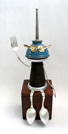 Taylor - Found Object Robot Assemblage Sculpture By Brian Marshall   Flickr - Photo Sharing!
