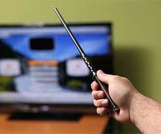 Harry Potter fans can now control any TV with the flick of the wrist with this magic wand TV remote control! This magic wand TV remote control has 13 different gestures to do everything from turn the TV on and off to changing the volume or channel.