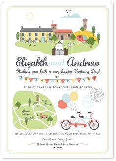 Emily Kiddy: cute wedding invite