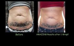 Results , interested ? A box of 4 wraps for $59 !!!! Only $59  On Facebook : simplyinshapebymandy