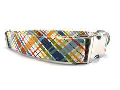 Dog Collar PLAID DOG COLLAR Handmade dog collar by GingersWonders, $30.00
