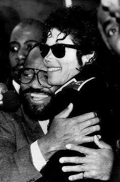 Motown Records founder Berry Gordy Jr. hugs Michael Jackson as he returned to the original home of Motown in 1988. Jackson donated $125,000 from a sold-out concert to the Hitsville museum.