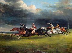 Theodore Gericault (1791-1824) De derby van Epsom (1821) Olie op doek 92 x 112,5 cm - Het Louvre