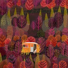 """turecepcja: """" Illustrations by Jane Newland, an artist from Norwich, Norfolk UK. """"I graduated from Maidstone College of Art with a degree in illustration, and since then my extensive freelance. Art And Illustration, Illustrations, Art Inspo, Painting Inspiration, Art Japonais, Guache, Design Poster, Art Portfolio, Graphic"""