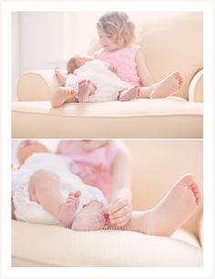 love the one of big sister touching the toes