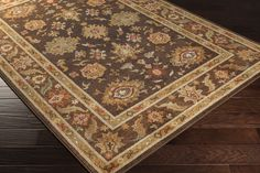 Arabesque Area Rug | Brown Classic Rugs Machine Made | Style ABS3010