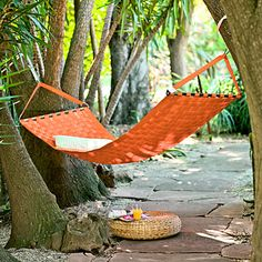 Eco-friendly hammock -keeps old seat belts from going into a landfill.  Available in six colors. $744; branchhome.com