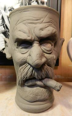 Old One Eye Pilsner Mug. wheel thrown and hand sculpted by the bigduluth