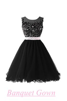 Short Ball Gown Black Beaded Bodice Cap Sleeves Lace Homecoming Gowns Cocktail Dresses