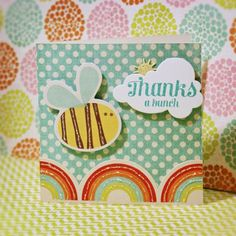 Thanks a bunch card using @Waltzingmouse Stamps