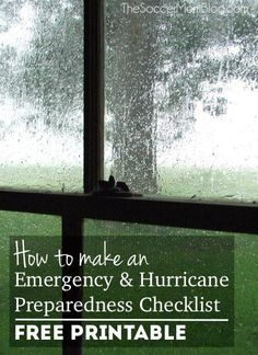 Are you ready in case of a weather emergency? What you need to know to make your family storm and hurricane preparedness checklist - FREE printable! by shelly Hurricane Preparedness Checklist, Disaster Preparedness, Survival Prepping, Survival Food, Survival Skills, Fall Cleaning Checklist, In Case Of Emergency, Emergency Binder, Emergency Kits