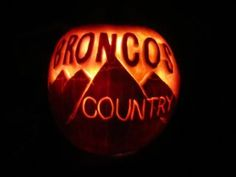Denver Broncos, Halloween, pumpkin