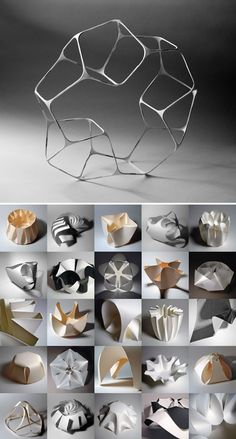 Abstract Sculpture, Sculpture Art, Paper Architecture, Paper Plants, Pin On, Geometry Art, Origami Design, Form Design, Conceptual Design